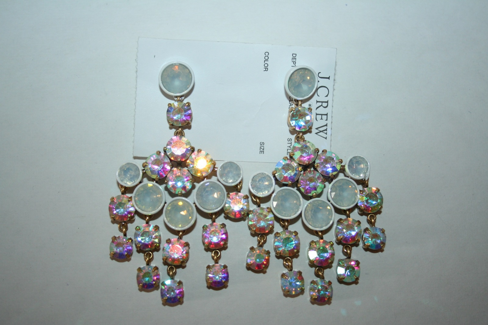 J Crew Crystal Chandelier Earrings White 50 00