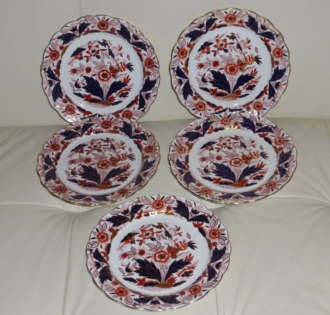 s Booths Dovedale A8044 Rust and Blue Imari Cup and Saucer Set
