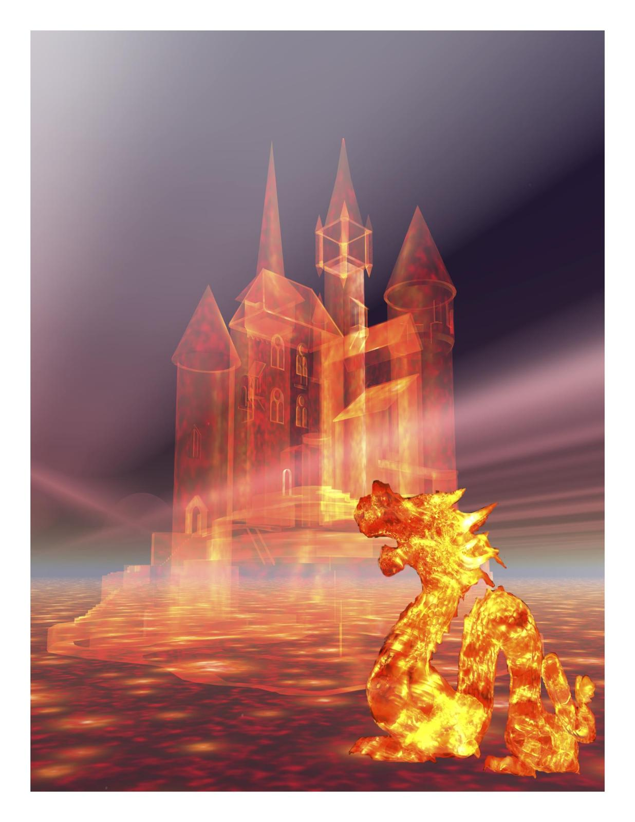 Castle in the sky and fire dragon