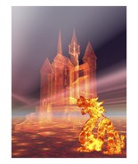Castle in the Sky and Fire Dragon-Download -ClipArt-Art Clip - $2.00