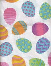 Holiday Easter with Eggs (White) 52x70 Oblong Vinyl Tablecloth Flannel Back - $15.99
