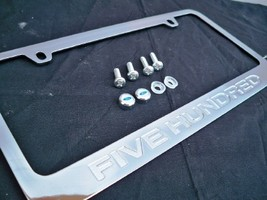 Ford Five Hundred Chrome Engraved License Plate Frame w/ Logo Screw Caps - $14.99