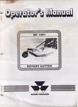 MASSEY-FERGUSON MF 1051 ROTARY CUTTER 1986 Operator's Manual NOS - $5.99