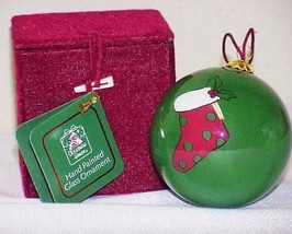 Glass Christmas Ornament Hand Painted on the Inside - $8.00
