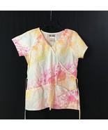 CHEROKEE BODY~SCRUBS TOP~Orange/pink/yellow ~SIZE XS~ - $9.86