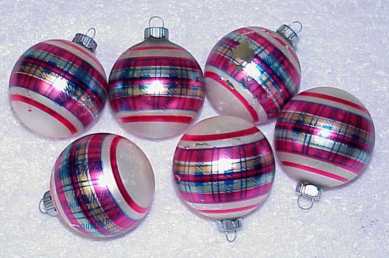 Primary image for Vintage Glass Shiny Brite Christmas Ornaments