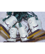 Vtg SNOWMAN/Snowmen Christmas Tree Light Strand - $12.99