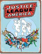 Justice League of America DC Universe Villains and Super Hero Metal Sign - $20.95