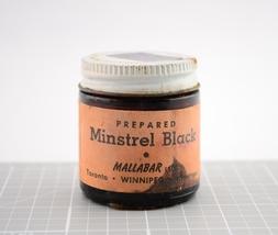 Vintage Mallabar Glass Jar-Prepared Minstrel Black-Circus Entertainer Co... - $24.99