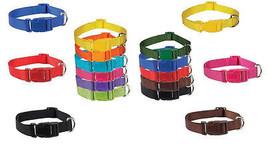 Brite Color Nylon Collars for Dogs - 11 Fun Colors, 4 Sizes ! Bright Dog... - $7.81+