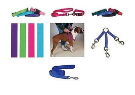 COORDINATING Nylon Collars, Leads & Harnesses for Dogs - Choose Sizes & ... - $5.83+