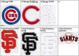 MLB Chicago Cubs White Sox San Francisco Giants Badge Iron On Embroidered Patch - $9.99+