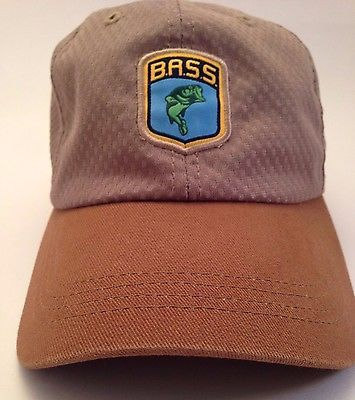 Bass ESPN Sports Brown Cap Hat One Size Fishing Hunting Outdoors Camping