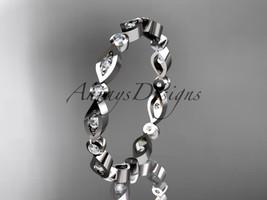 Platinum diamond leaf and vine wedding band, engagement ring ADLR11B  - $1,350.00