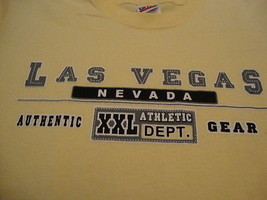 Las Vegas Nevada Vacation Souvenir Casino Athletic Dept Yellow T Shirt Youth L - $15.04