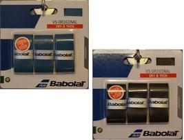 New Babolat VS Original Grip Overgrip 3 Pack Tennis Golf DRY & THIN - $6.95