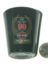Harley Davidson HD Motorcycles 90 Year Reunion 1903-1993 Liquor Shot Gla... - $12.38