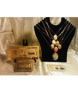 ☆✔~S&H GOLD$100K Banknote W/COA+7Pc. NEW IN PACKAGE VINTAGE Cab NECKLACE... - $18.09