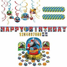 Thomas All Aboard Party Supplies Pack for 16 Guests - Stickers, Hanging ... - $29.71