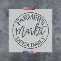 Farmers Market Stencil - Durable & Reusable Mylar Stencils - $5.99+