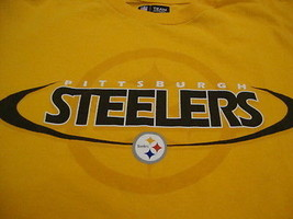 NFL Pittsburgh Steelers National Football League Fan Yellow T Shirt M - $17.46