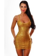 Bodyzone Sexy Sequin Mini Dress Gold or Silver OS - $39.99