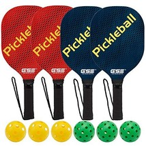 GSE Games & Sports Expert Hardwood Pickleball Paddle and Pickleball Ball... - $44.78