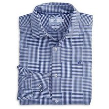 Southern Tide Men's Trim Fit Gingham Sport Shirt, Yacht Blue, S