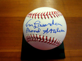 TOMMY TOM LASORDA PROUD ITALIAN DODGERS HOF SIGNED AUTO OML BASEBALL PSA... - $197.99