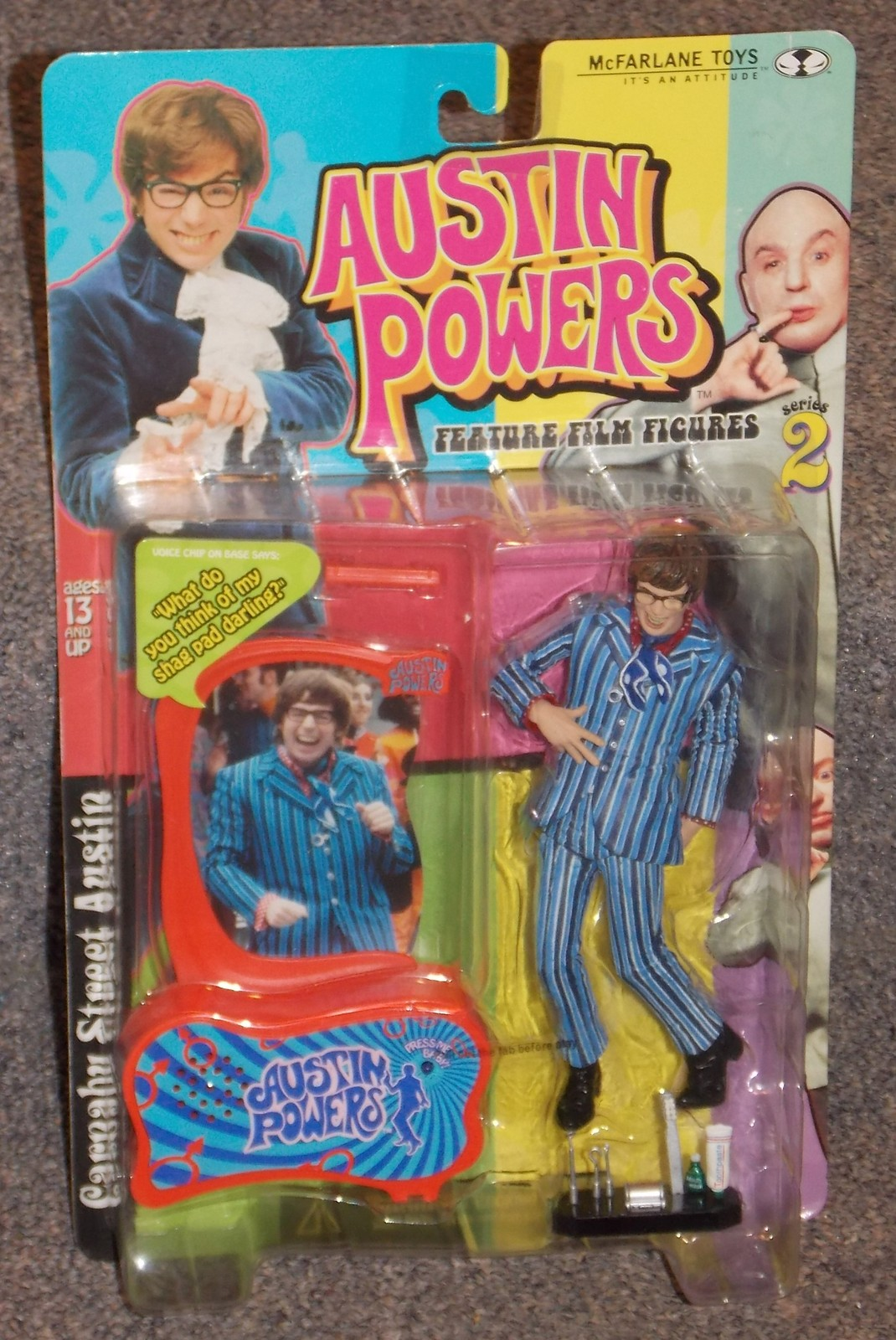 Primary image for 1999 McFarlane Toys Austin Powers Series 2 Action Figure New In The Package