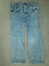 Vintage 80'S Levis Acid Wash Children's Zipper Denim Jeans size 4R - $30.00