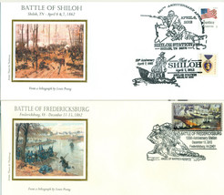 CIVIL WAR 150TH ANNIVERSARY COVERS-SHILOH,FREDERICKSBURG,SPOTSYLVANIA SE... - $25.00
