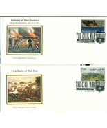 THE CIVIL WAR FIRST DAY COVER SET OF 10 - $70.00