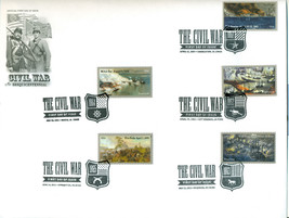 THE CIVIL WAR 10 STAMPS FIRST DAY OF ISSUE COVER- SET OF 2 - $40.00