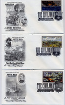 THE CIVIL WAR FIRST DAY COVER SET OF 10 - $40.00