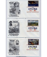 THE CIVIL WAR FIRST DAY COVER WITH DIGITAL COLOR POSTMARKS SET OF 10 - £34.82 GBP
