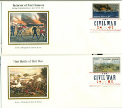 THE CIVIL WAR FIRST DAY COVER WITH DIGITAL COLOR POSTMARKS SET OF 10 - $75.00