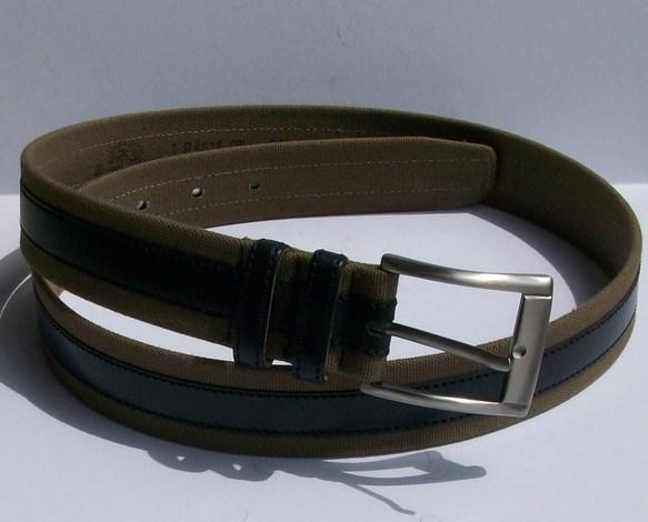 Tommy Bahama Men's Belt, Pellegrino, Olive/Blk, Sz. 36, New w/tags