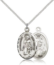 ST. PEREGRINE - Sterling Silver Medal & Chain - 0046P - $56.99