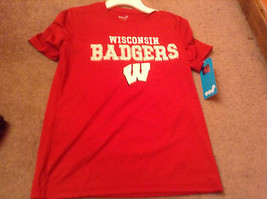 Boys m 8-10 Wisconsin Badgers Fulcrum Performance Tee gen2 new nwt girls youth - $12.20