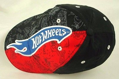 de9603840c7 Hot Wheels Logo Baseball Hat Cap Red Black Size Youth EUC Box Shipped