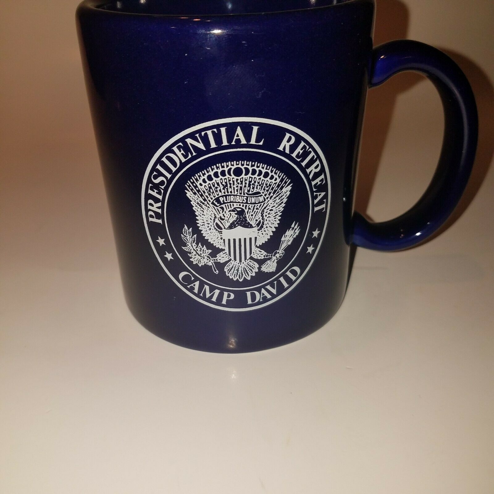 Primary image for Royal Blue Presidential Retreat Camp David Coffee Mug Made USA Eagle on Bottom