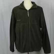 Columbia Men Green Zip-Up 100% Polyester Fleece Jacket Sz XL-XXL EUC - $37.39