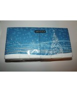 """Artstyle Christmas Holiday Glimmer Blue Paper Napkins 3 Ply 13"""" x 13"""" 20... - $8.77"""