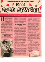 Fred Savage teen magazine pinup clipping meet Fred Savage plus girls Dream Guys