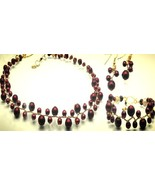 Rose Red Handmade Women Necklace Bracelet and Earrings Set - Such A Love... - $265.00