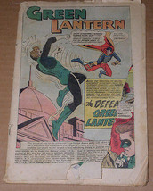 Green Lantern Comic Book Vintage 1963 - $4.99