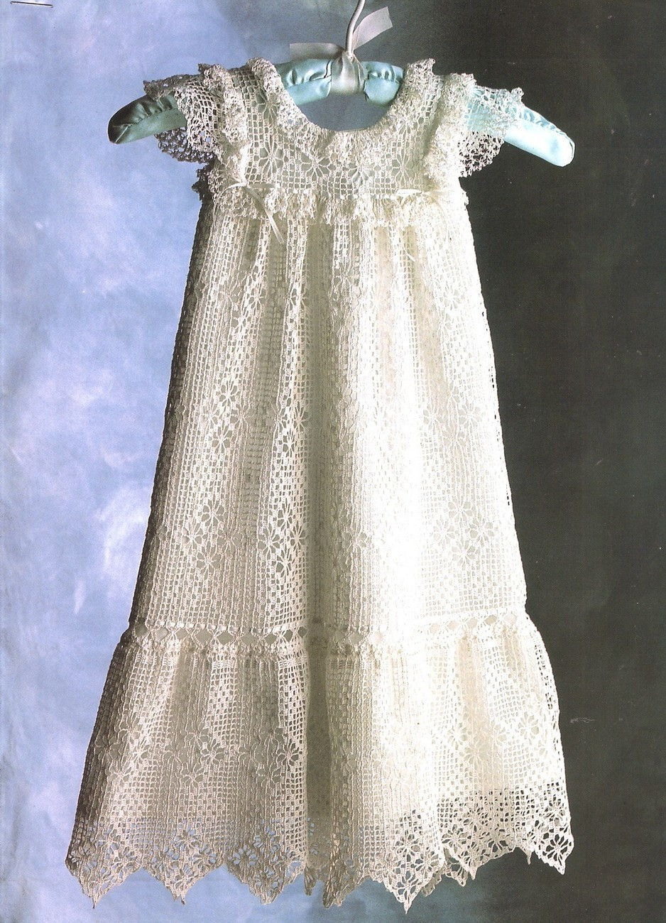Antique Baby Dress Crochet Pattern Heirloom Christening