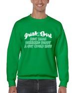 Men's  Crewneck Sweatshirt Saint Patrick's Day Irish Girl Damn Drinking Buddy - $22.00