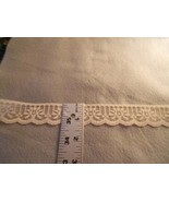 """1 1/4"""" flat delicate 100% polyester cream lace (20 yards) - $5.00"""